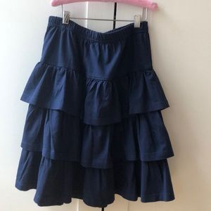 Hanna Andersson navy tiered skater skirt